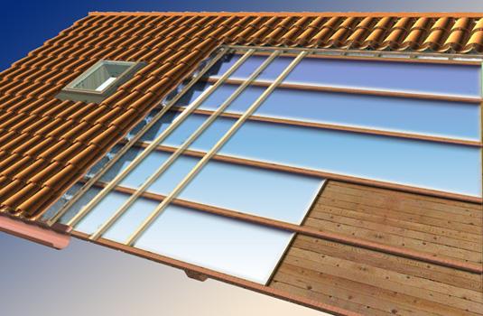 Isolamento termico isoliamo le coperture for Tettoia inclinata del tetto