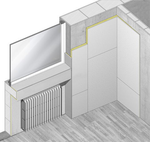 Isolamento termico a basso spessore terminali antivento - Spessore muri interni ...